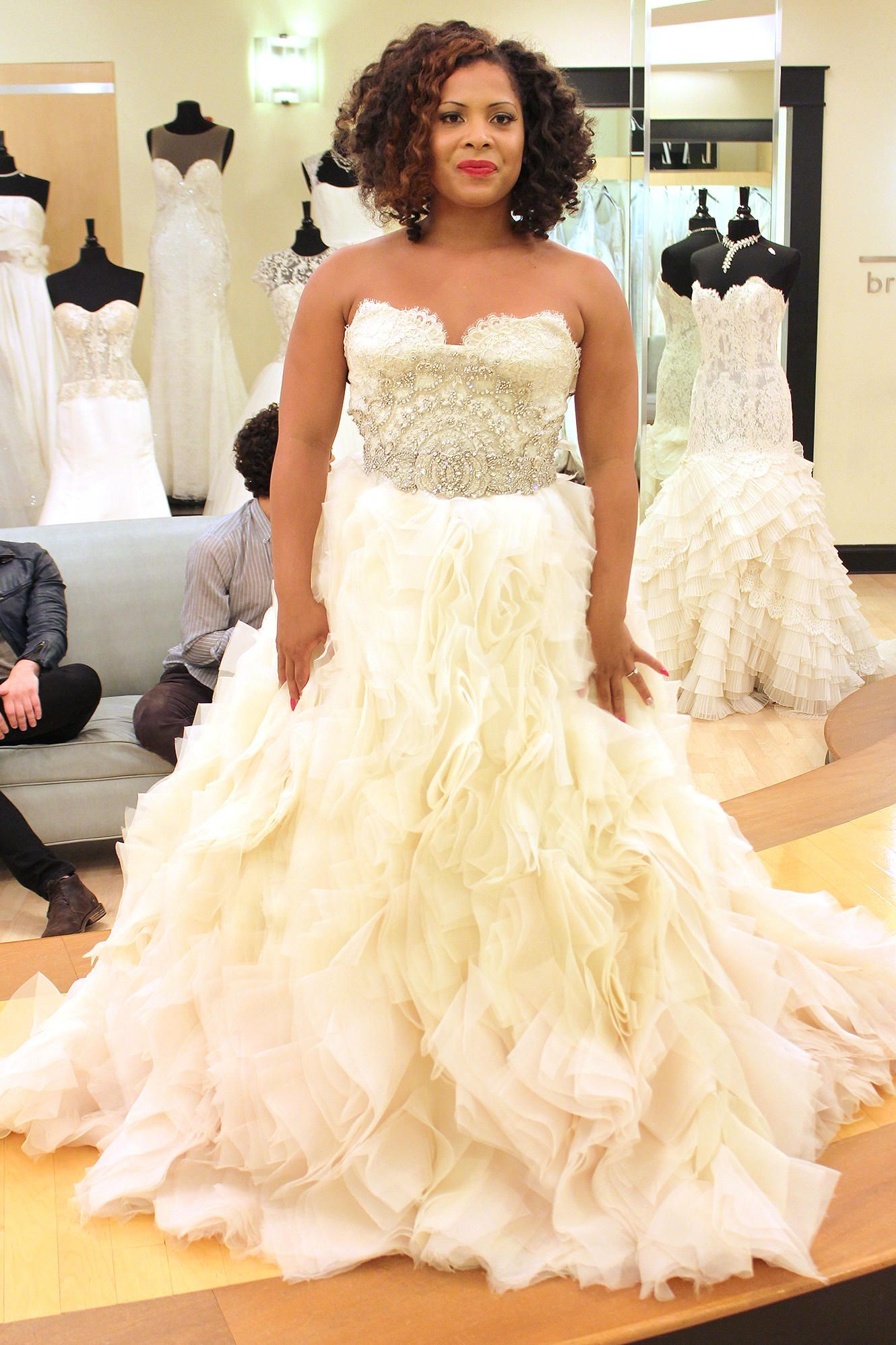 Season 9 Featured Dress Lazaro Ballgown Alencon Lace Organza Ombre Sweetheart
