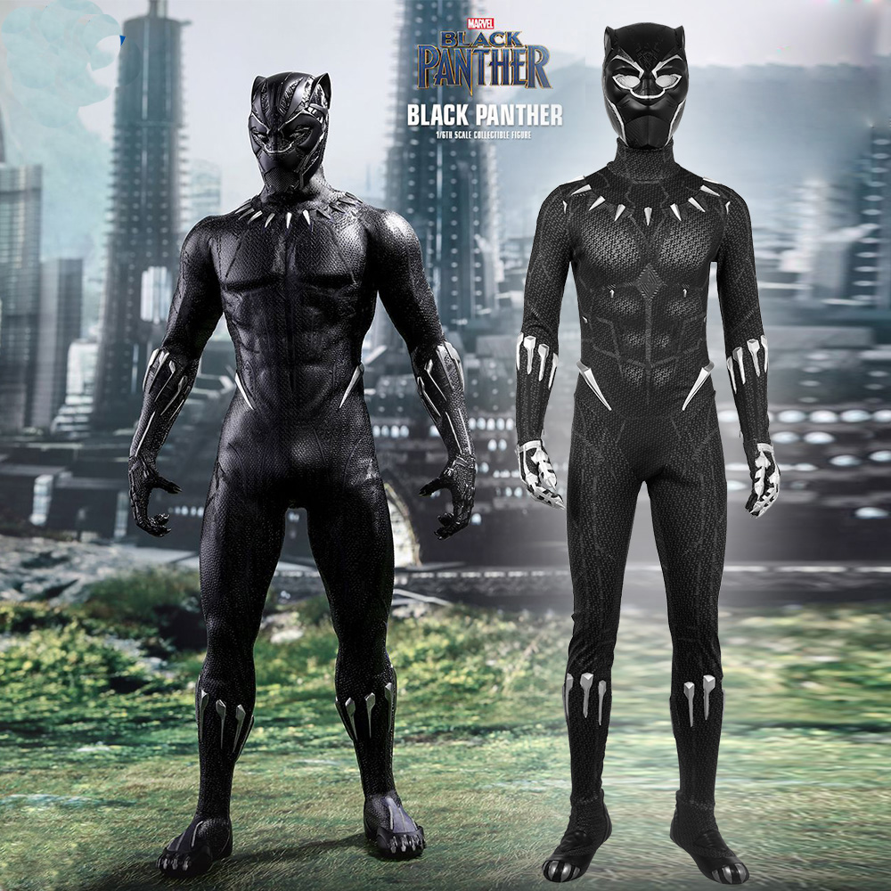 Quality Marvel Black Panther Cosplay Costume Black Panther Costume Panther Costume Black Panther Marvel