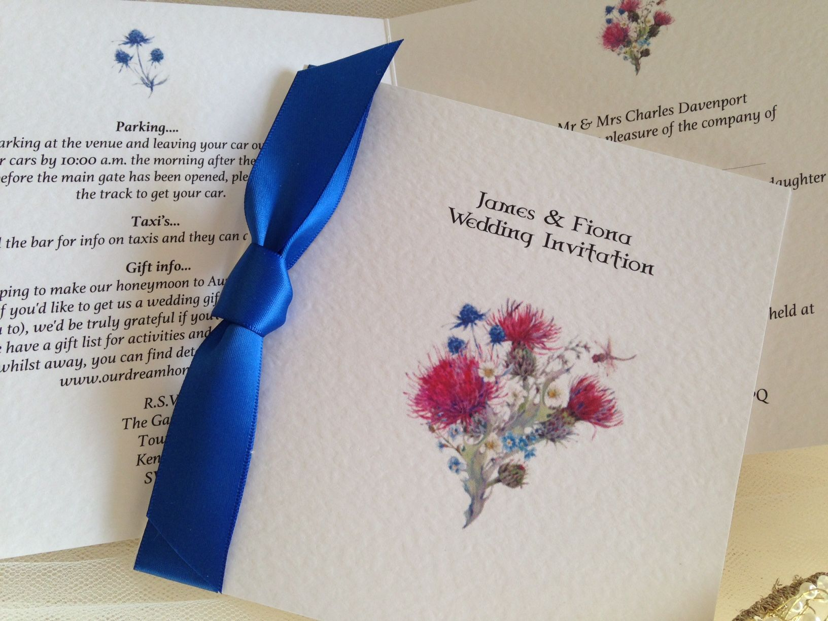 Thistle Wedding Invitations from £1.25. Affordable wedding ...