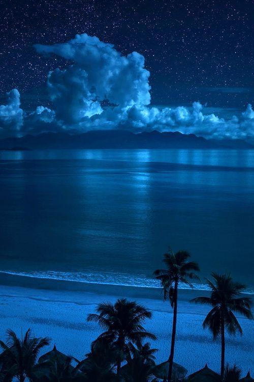 Cloud Paradise Beach LandscapeBeach At NightOcean