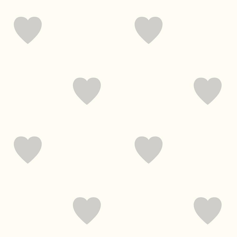 Best Fine Decor Adley Off White Hearts Wallpaper Sample Beige 400 x 300