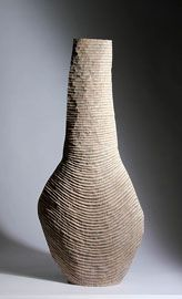 Martin & Dowling / Grooved Form / LImed and Scorched Oak / Courtesy Galerie Mouvements Modernes