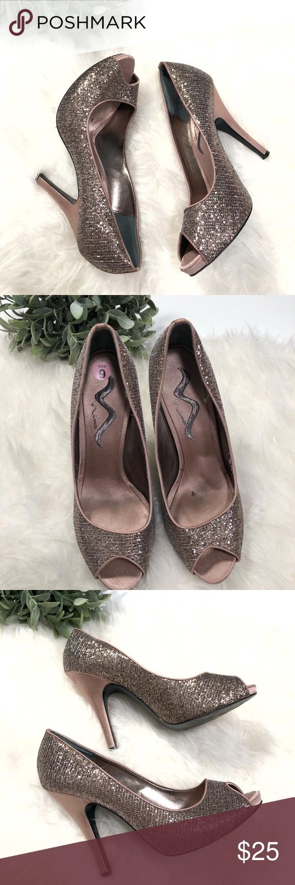 Nina Taupe Glitter High  Heels Size 9   My Posh Closet  High  Pinterest   5b42df