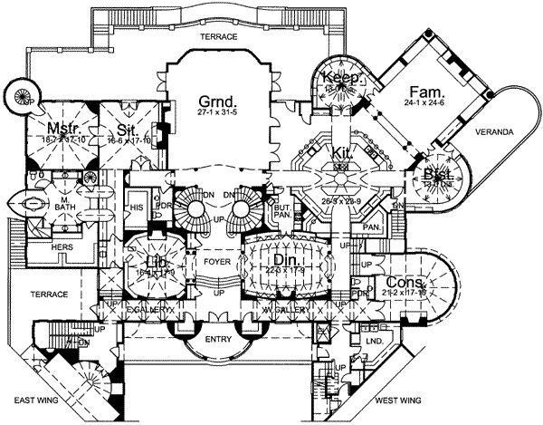 What Does An Average Set Of House Blueprints The Kind Specifically For One Type Of House Usually Co Castle Floor Plan Mansion Floor Plan Castle House Plans