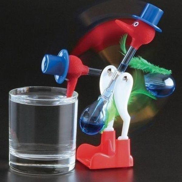 Novelty Retro Toys Glass Happy Drinking Bird Bobbing Dipping Dippy Einstein Duck