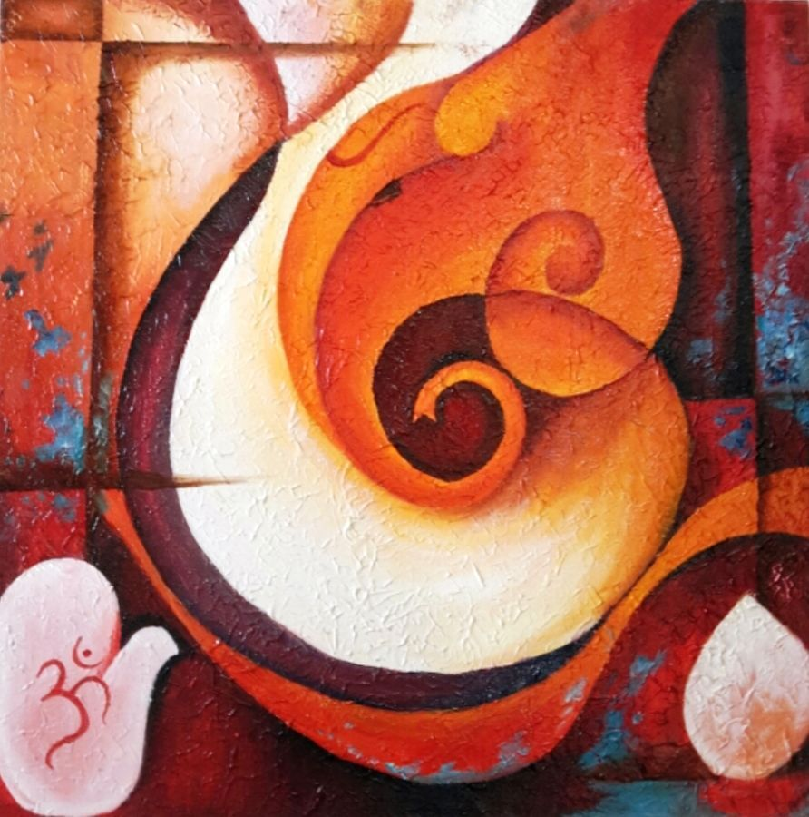 Buy online sunita khedekar paintings - Buy Ganpati Abstract Painting Online Original Museum Quality Artwork By Amaey Parekh Available At Gallerist Check Price Painting And Details Online