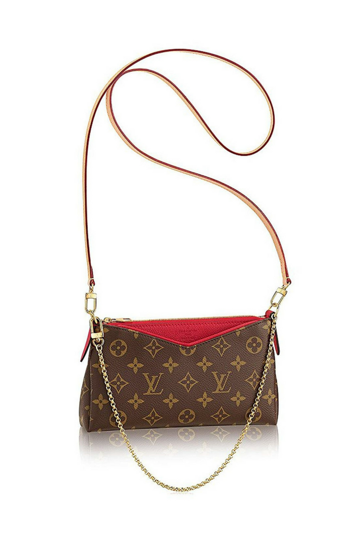 2121236b29da Louis Vuitton handbags for women   Authentic Louis Vuitton Monogram Canvas  Pallas Clutch Handbag Cherry Article