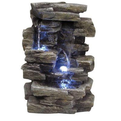 Alpine Corporation 13 In Waterfall Tabletop Fountain Win220
