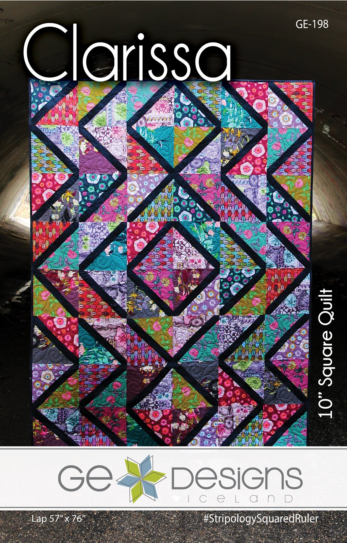 """10 Squared clarissa - 10"""" square pattern 