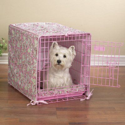 Portable Soft Sided Dog Crate Pink Or Blue Dog Crate Cover Dog