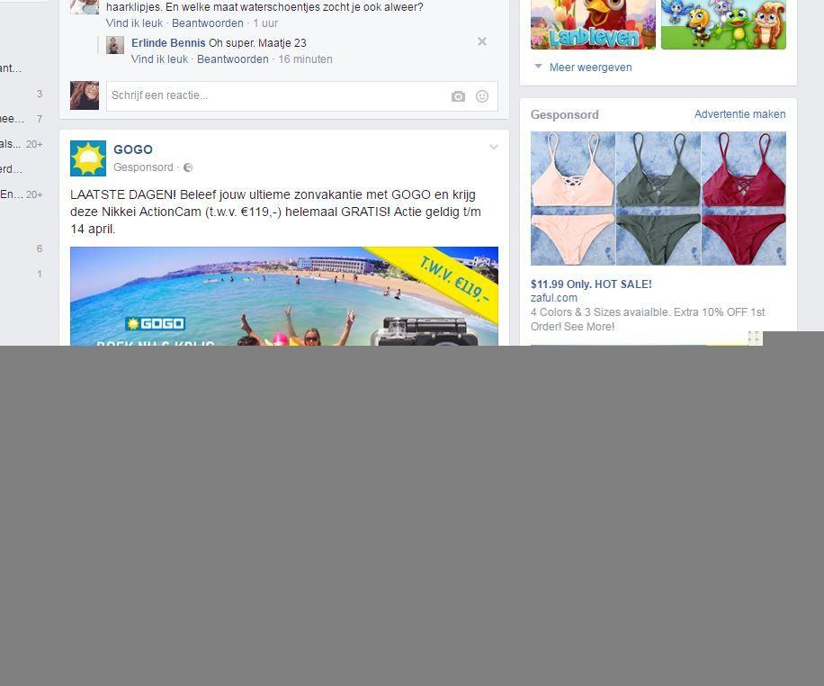 reclamebanier of pop-up : door websites te bezoeken bvb zien bedrijven wat je leuk vind en waar je intressen in hebt hier door wordt het op je fb pagina gezet en kom jij het steeds tegen