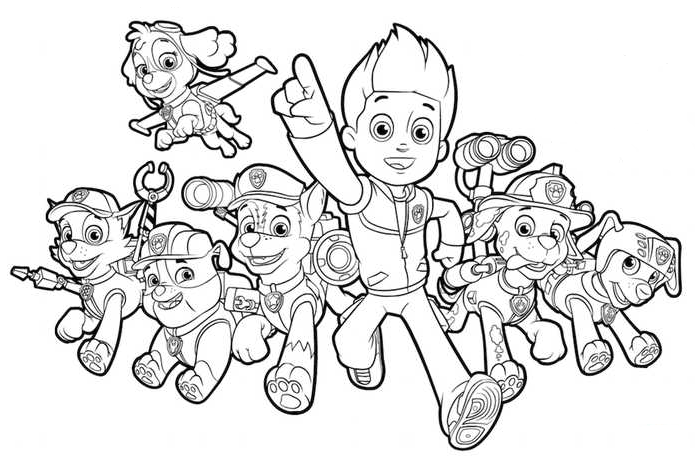 Paw Patrol Coloring Pages | Free Printable Coloring Page ...