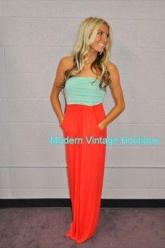 Spring Maxi Dress  Modern Vintage Boutique