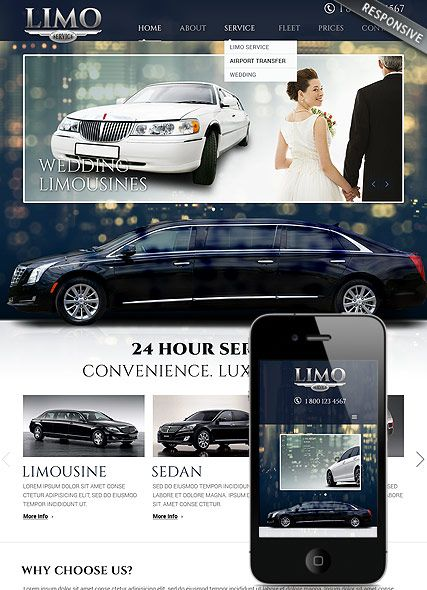 Limo Service Website Template