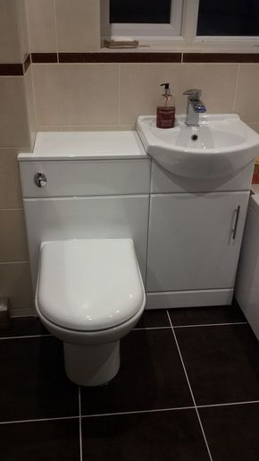 Combination Toilet And Basin Units Are A Cute Space Saving Idea For Small Bathrooms Small Bathroom Sinks Small Bathroom Vanities Space Saving Toilet