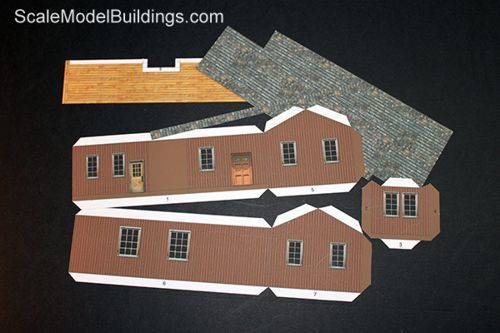 Cardstock buildings for model trains my paper models and - Printable ho scale building interiors ...