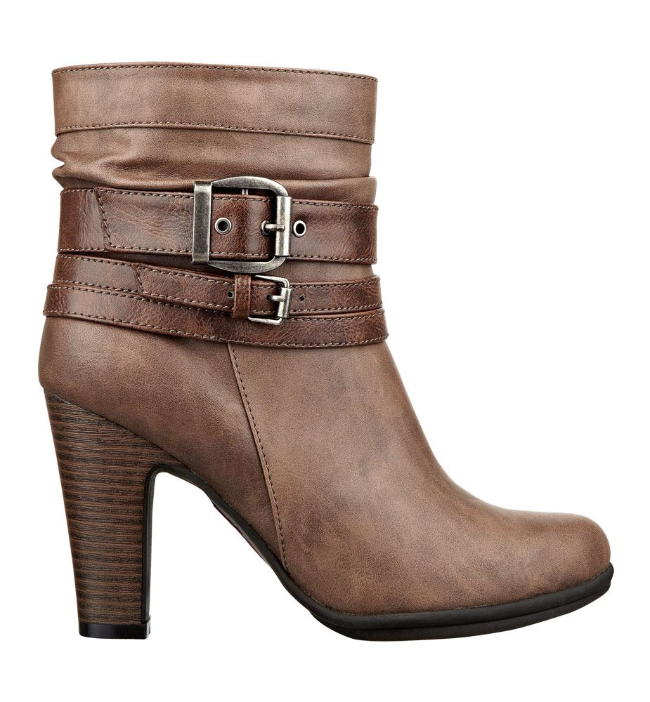 Klarissa: The ultimate blend of Pink and Pepper in one style! Silver buckle hardware adds an edgy vibe to this sexy heeled bootie.  $59.00