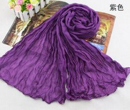 Fashion 2016 New Designer Denim Blue Women Winter Cotton & Linen Blended Solid Echarpes Foulards Fold Candy color Femme Scarves