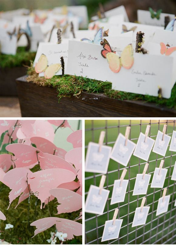 Decoraci n de boda con mariposas place cards wedding - Decoracion con mariposas ...