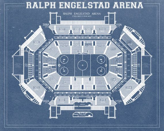 Vintage print of ralph engelstad arena seating chart by clavininc