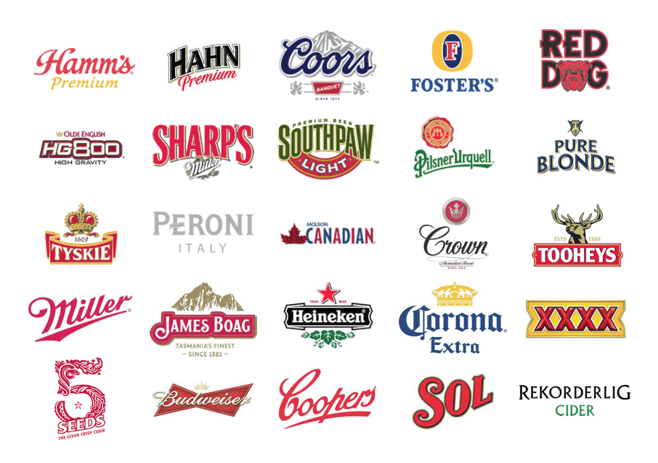 Classic Beer Logos - Benchmarking for a client. #
