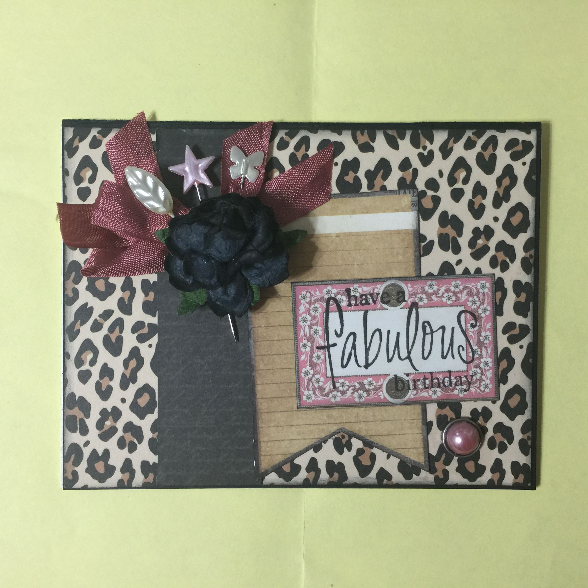 Birthday Card With Marion Smith Papers Maya Road Trinkets