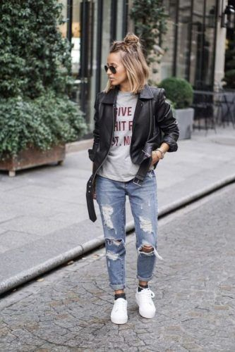 casual boyfriend jeans outfit, How to rock the boyfriend jeans  http//www.justtrendygirls.com/how,to,rock,the,boyfriend,jeans/