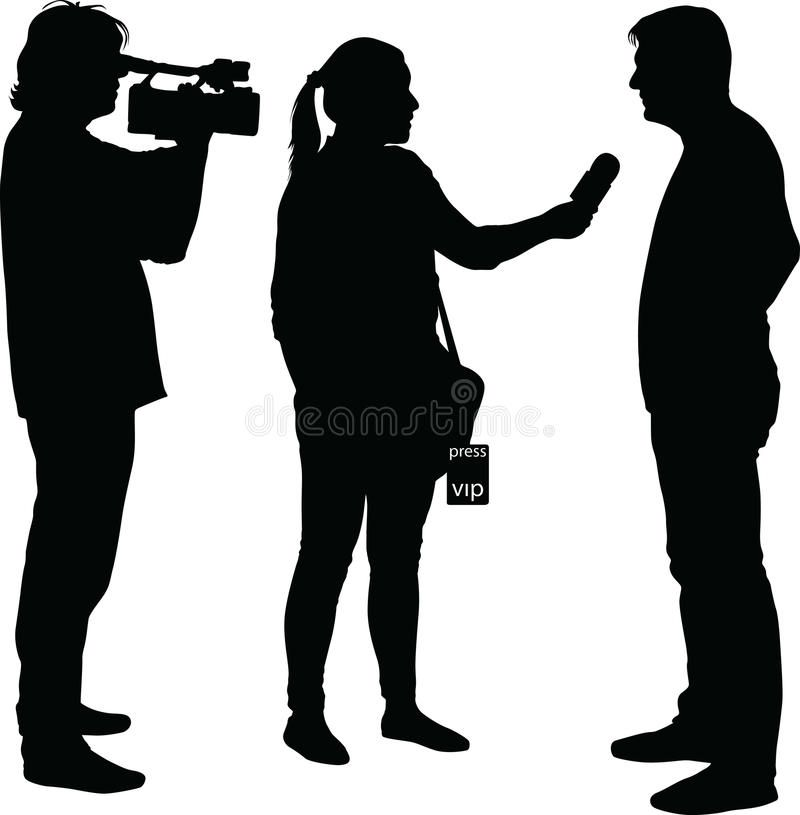 Interview With Star Journalist And Cameraman Interview With Star Journalist An Sponsored Advertisement Sponsored Interview Journalist Human Silhouette