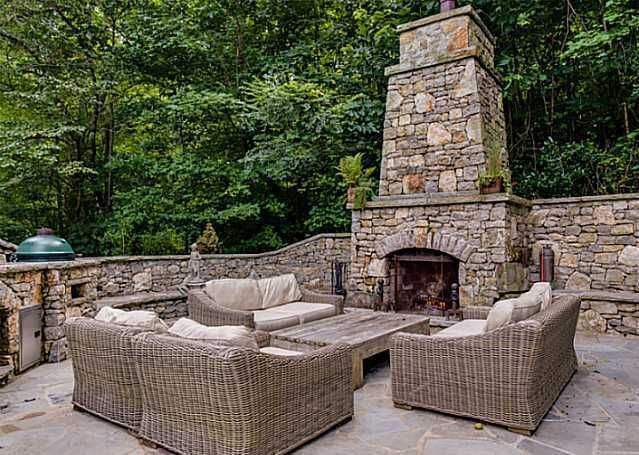 Tall Chimney Backyard Fireplace Fireplaces Pinterest