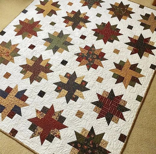 Ribbon Star Quilt (Quilting Land) #jellyrollquilts