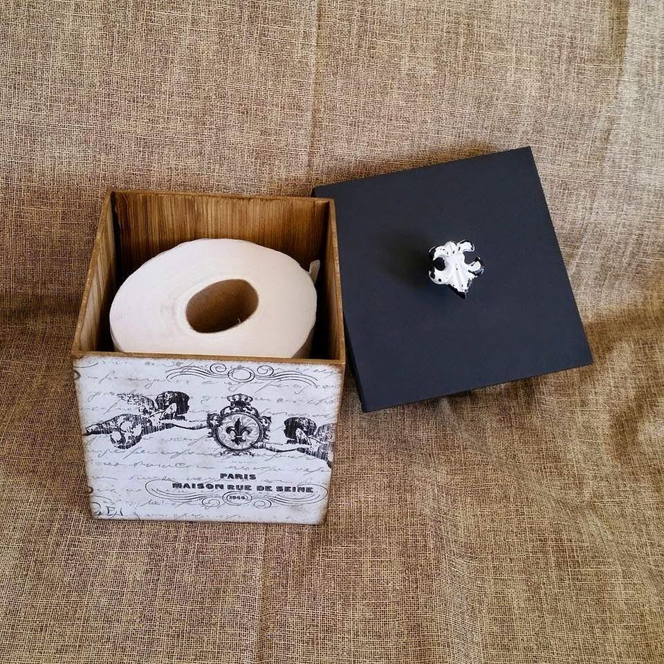Arte lá em casa: Porta Papel Higiênico Box P - Angel