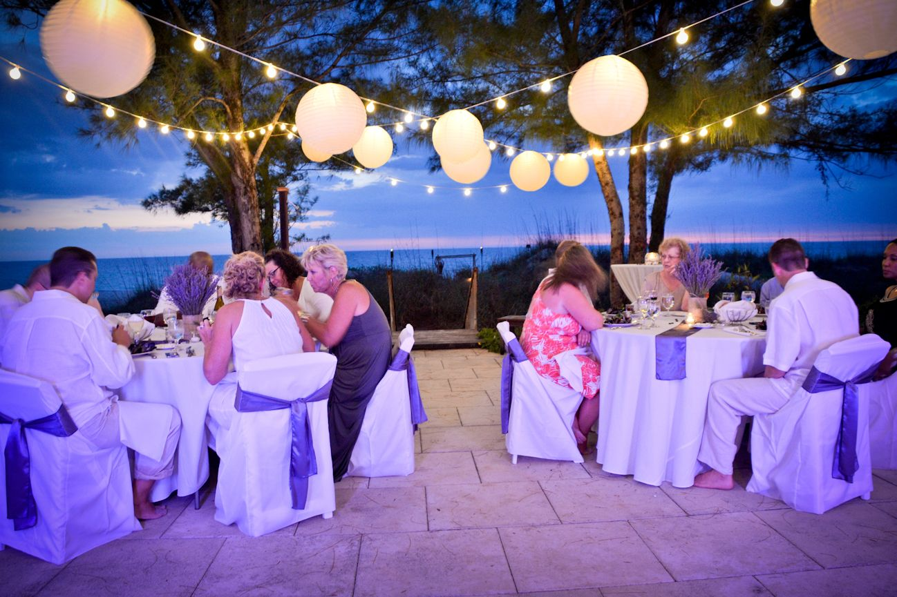 Florida Beach House Wedding Reception