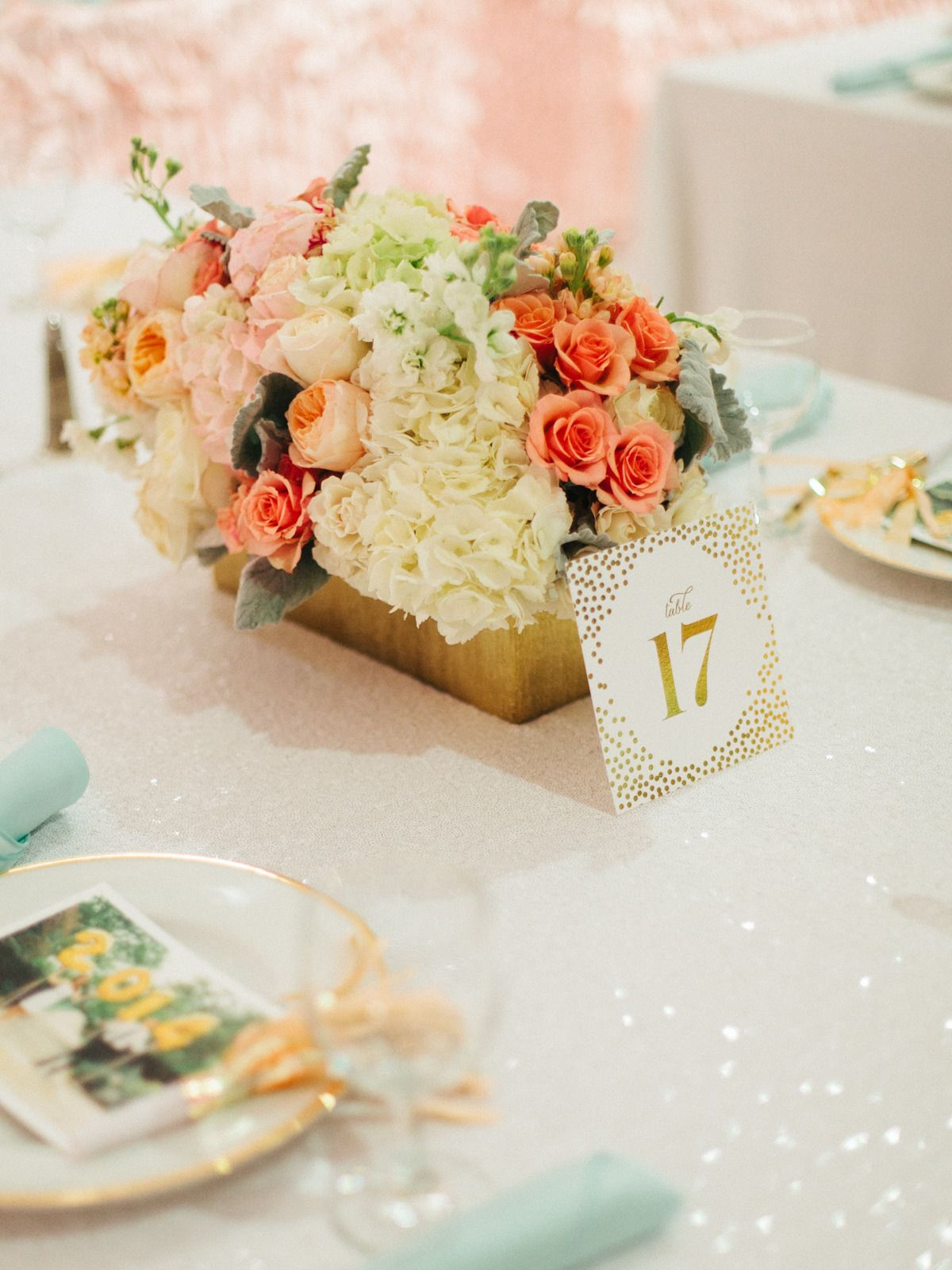 Sparkly New Year's Eve Wedding | Tall wedding centerpieces ...