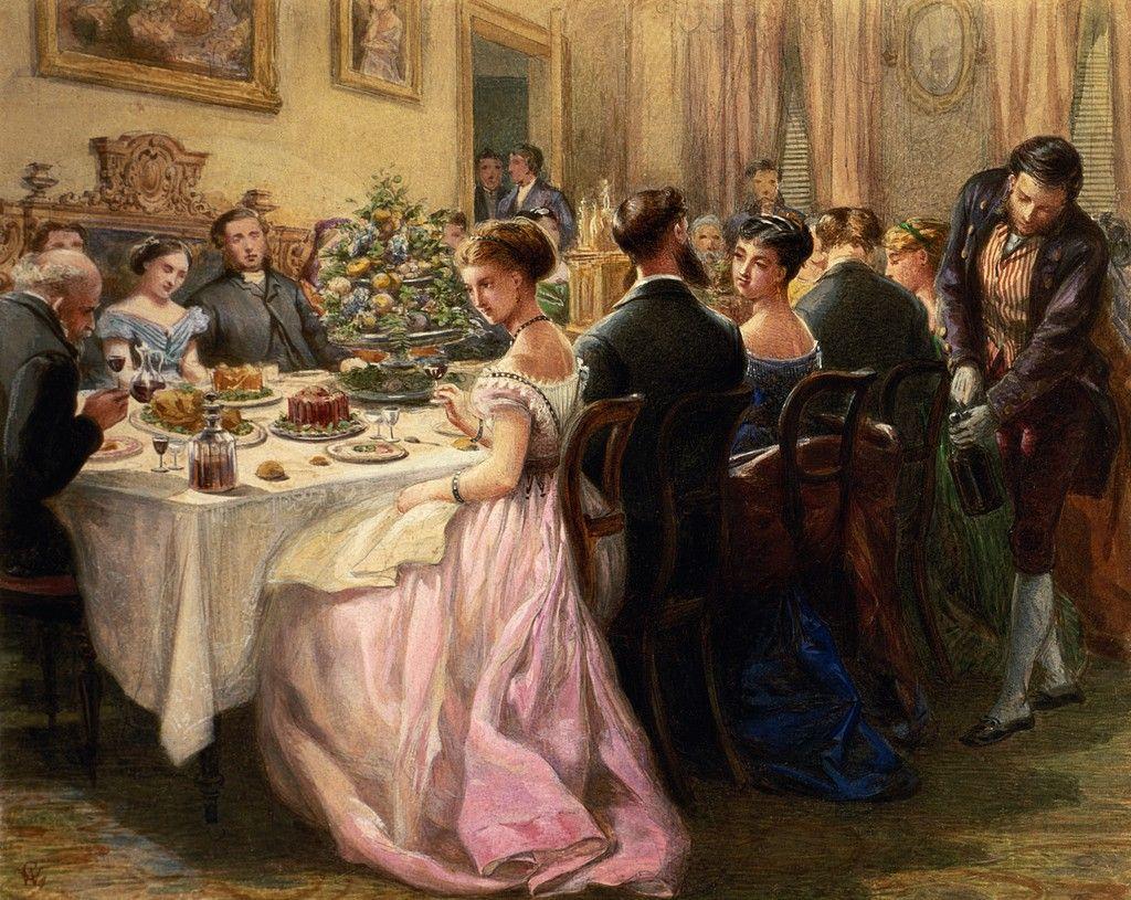 Christmas Dinner Painting
