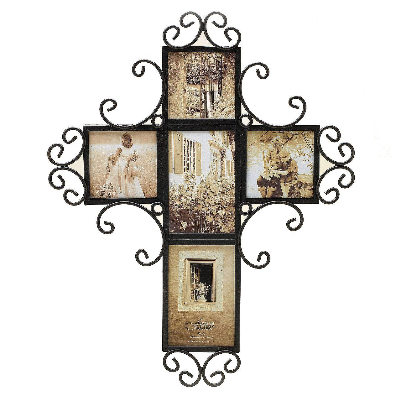 Fetco Home Decor Tuscan Alton Five Opening Wall Collage
