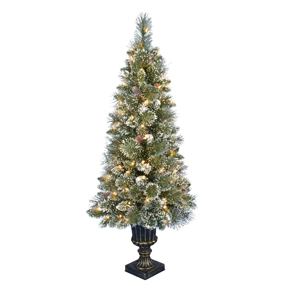 Home Accents Holiday 4.5 ft. PreLit LED Sparkling Amelia
