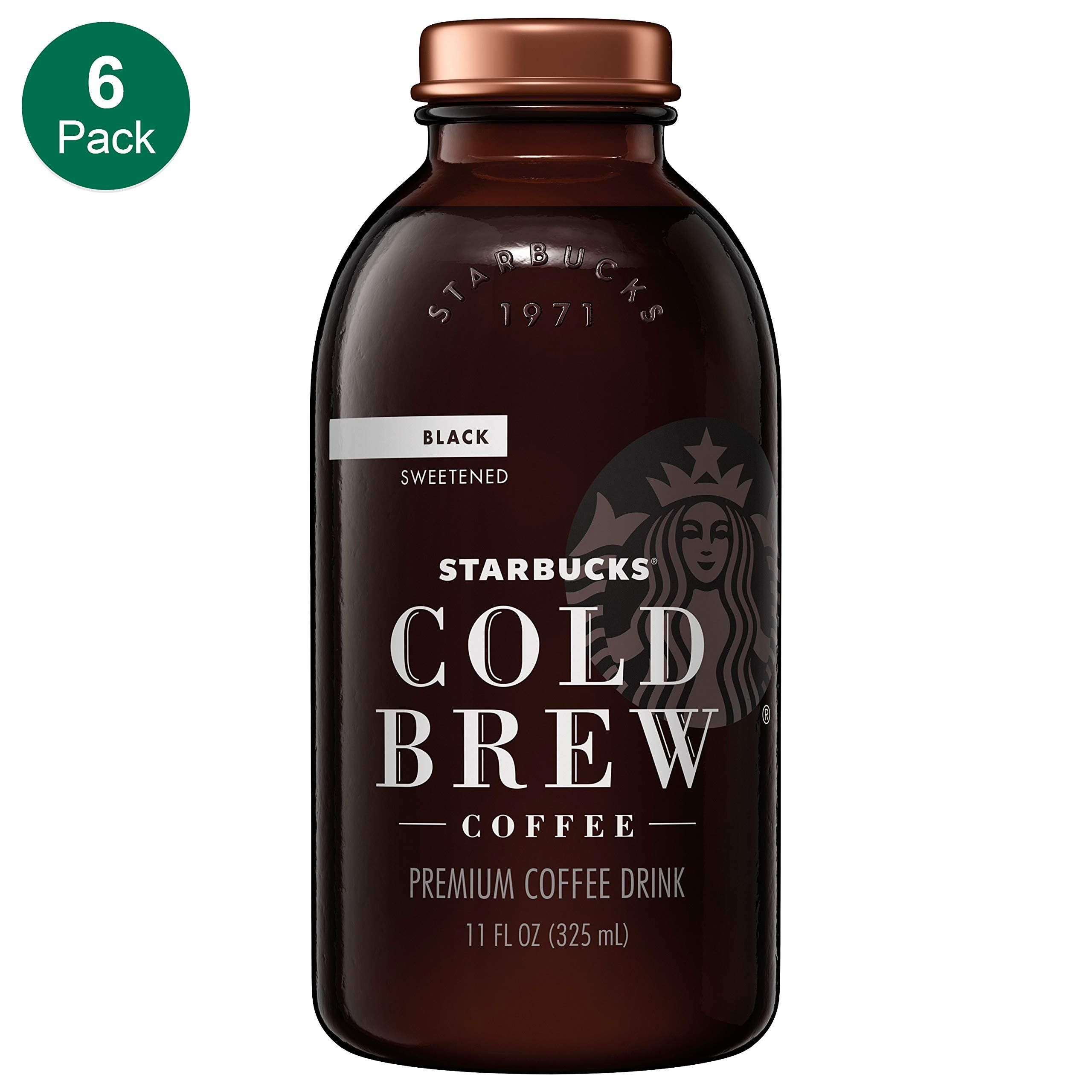 Starbucks Cold Brew Coffee, Black Unsweetened, 11 oz Glass Bottles, 6 Count | Coffee brewing ...