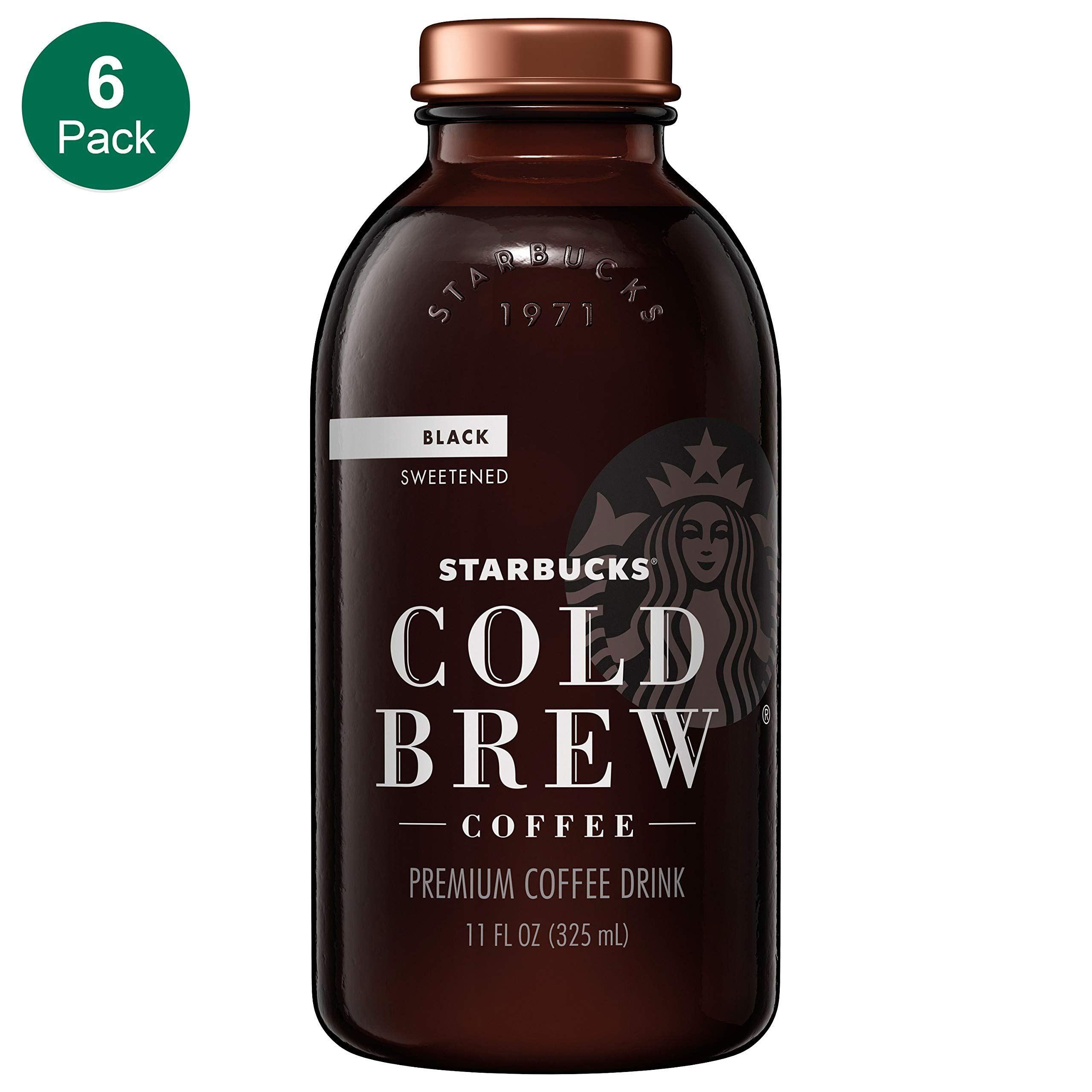 Starbucks Cold Brew Coffee, Black Unsweetened, 11 oz Glass