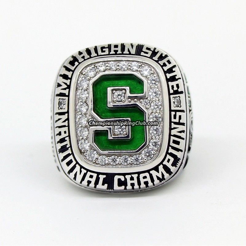 2007 Michigan State Spartans Men S Ice Hockey Ncaa National Championship Ring Best Championship Rings Michigan State Spartans Michigan State Spartans Football