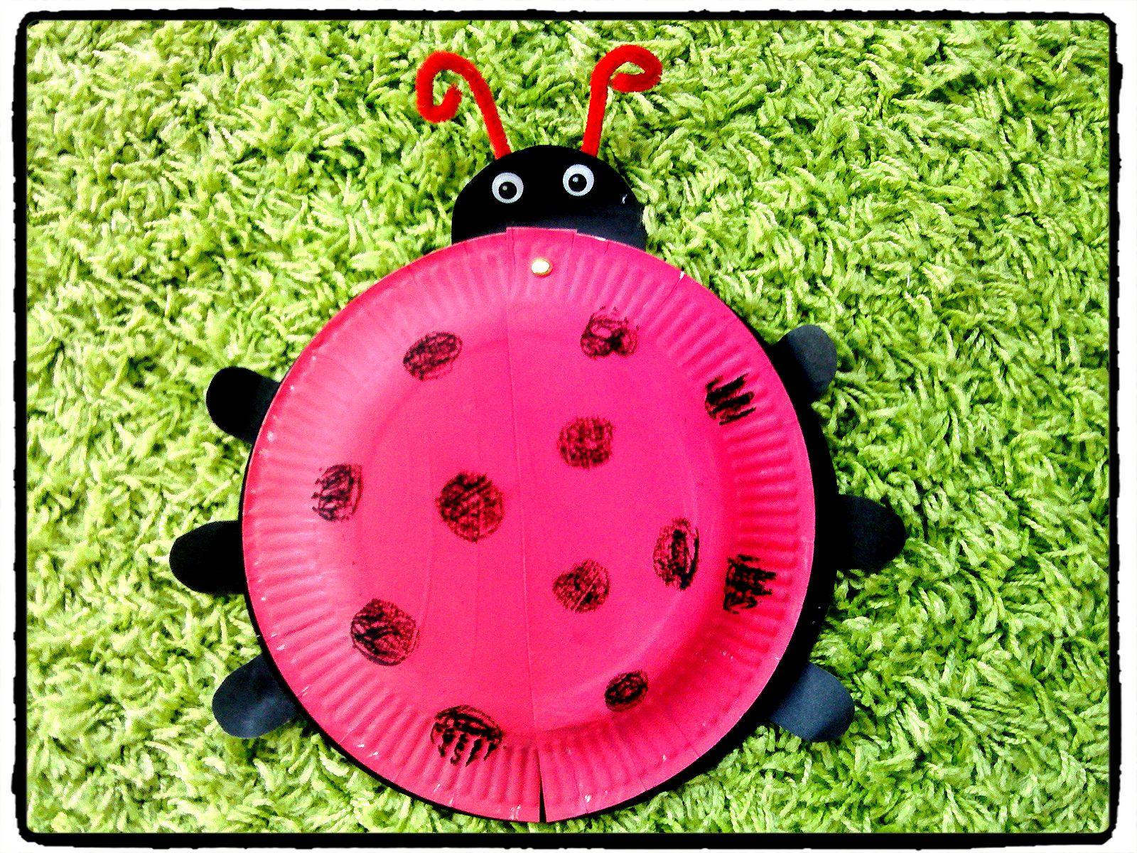 jolie coccinelle saisons pinterest coccinelle insecte assiette en carton et bricolage enfant. Black Bedroom Furniture Sets. Home Design Ideas