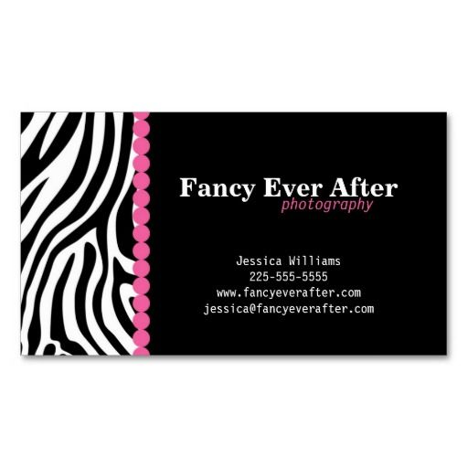 Fancy zebra print business card template black and white business fancy zebra print business card template reheart Choice Image