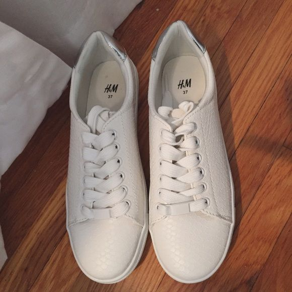 White sneakers, H\u0026m shoes, Sneakers