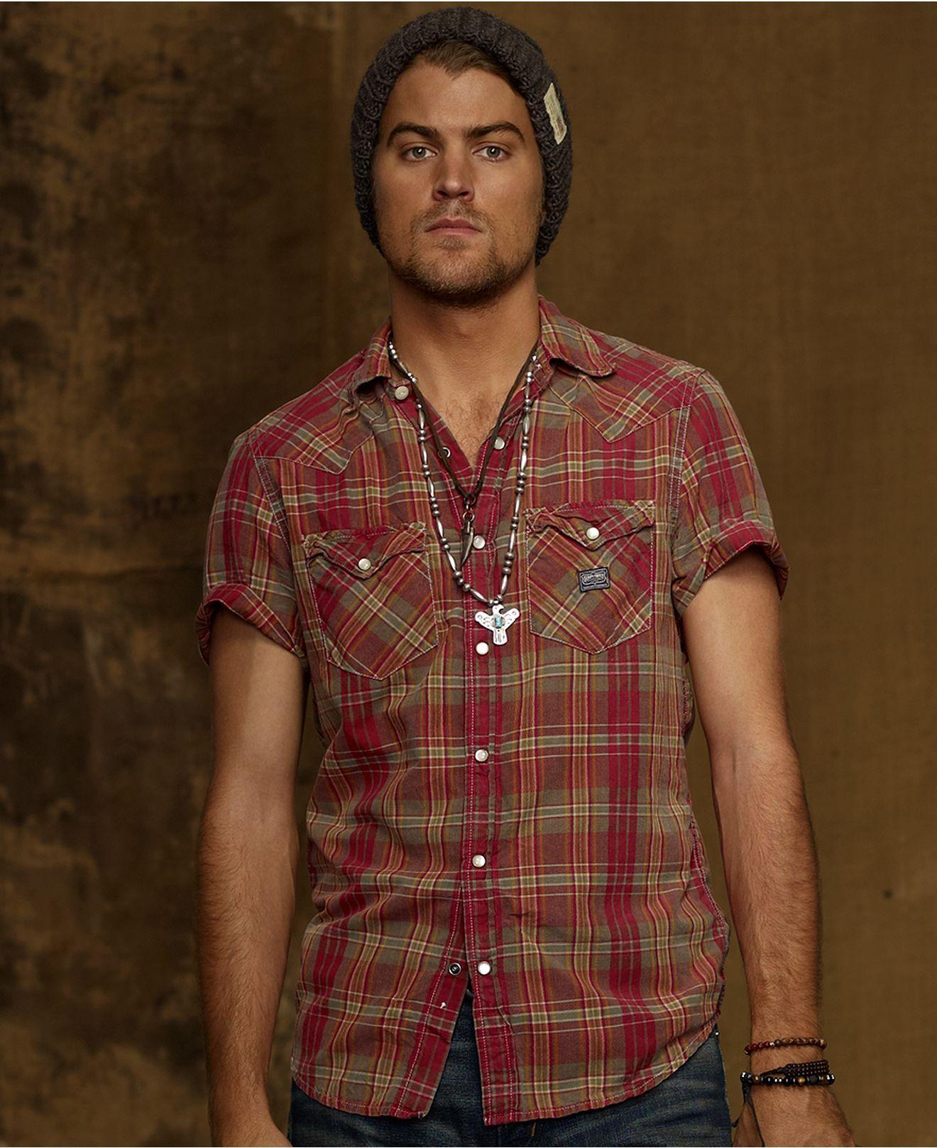 Denim & Supply Ralph Lauren Shirt, Madras Cotton Cowboy