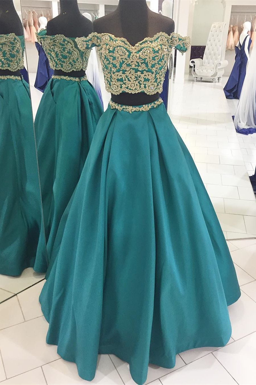 Two+Piece+Long+Prom+Dress,+Princess+Prom+Dress,+2k18+Prom+Dress,+ ...
