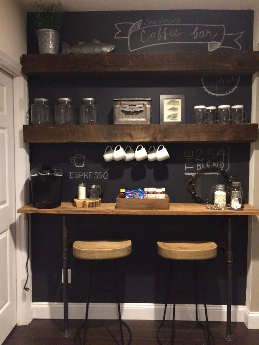 35 diy mini coffee bar ideas for your home (10   Wohnen