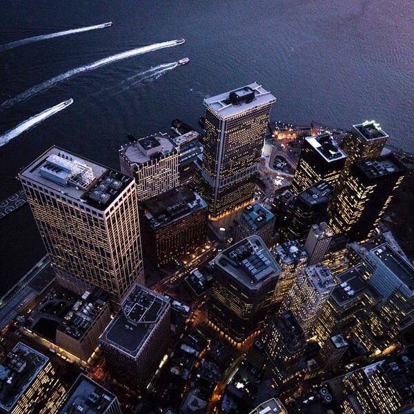 Financial District, NYC by @ch3m1st via NY on Air