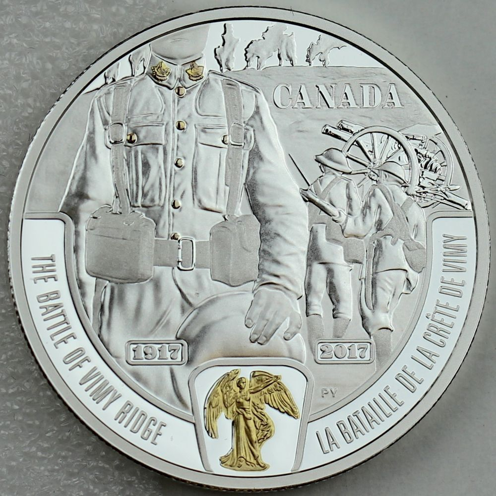 Details About 2017 20 Battle Of Vimy Ridge 1 Oz Silver Gold Plating Ww1 Battlefront Series Coin Collecting Canadian Coins Show Me The Money