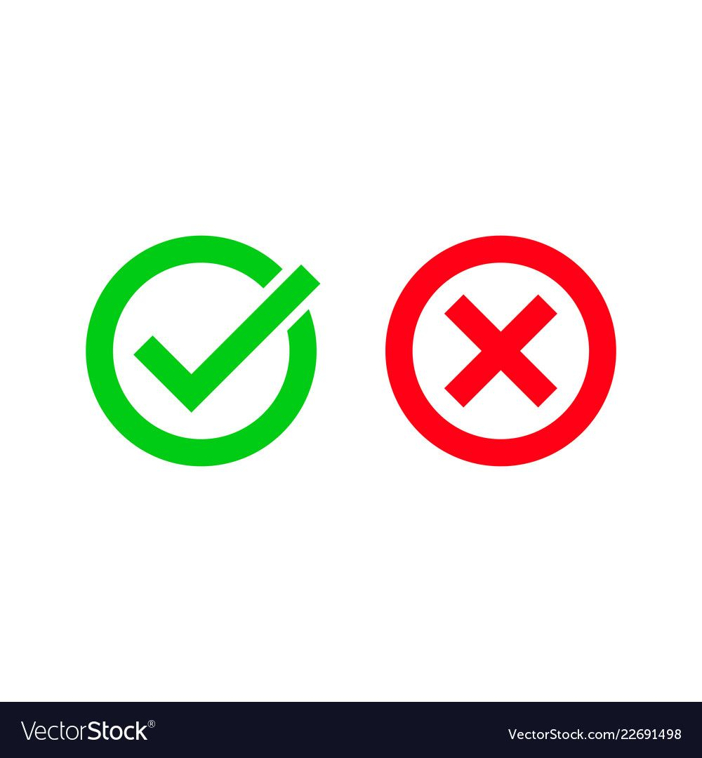Tick And Red Checkmark Vector Icons For Checkbox Symbols In Cricles Download A Free Preview Or High Quality Adobe Illustrator Vector Free Vector Vector Images