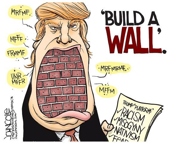 Image result for trump immigration cartoons