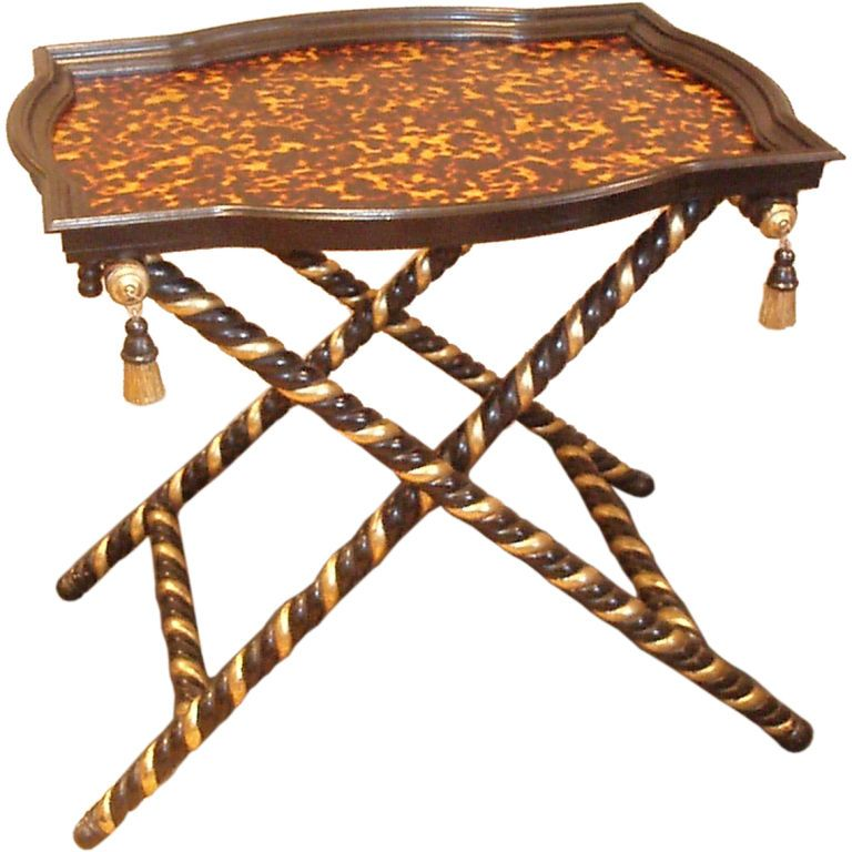 Faux Finished Tortoise Shell Tray Table | From A Unique Collection Of  Antique And Modern Tray